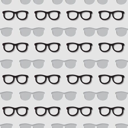 accessoire: 3d naadloos patroon met de zomer mode-accessoire hipster zonnebril.