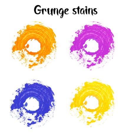 jpeg: Hand made color grunge round stain backgrounds. Rasterized image. Jpeg Stock Photo