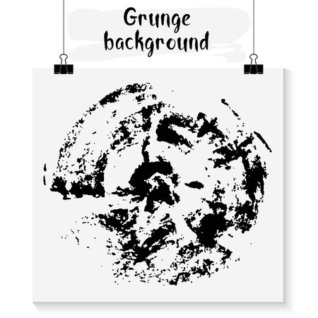 intermittent: Hand made grunge black round background for posters, cards, flyers, T-shirt print and web-use.