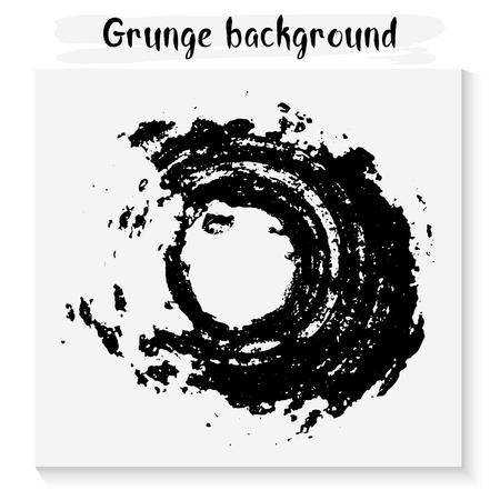grunge round background. Illustration