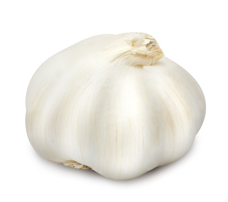 Head of garlic isolated on a white background. Stok Fotoğraf - 88266769