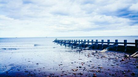 groynes: Looking out to sea