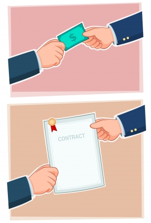 businessman exchanging Stock Vector - 18846390