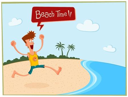 summer in the beach Illustration