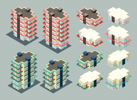 pre-assembled isometric building apartment, its height is easily customize