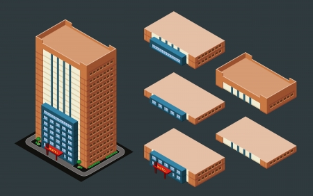 pre-assembled isometric building hotel, its height is easily customize