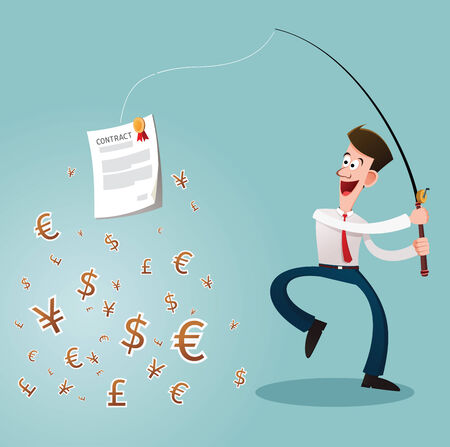 young businessman reach a profit and an opportunity Stock Vector - 25274823
