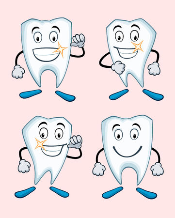 various expressions of healthy teeth