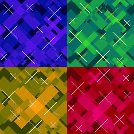 colorful modern seamless cross pattern Illustration