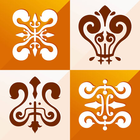 classic medieval emblem ornament for various purpose such as pattern and background