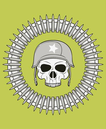 monochrome skull illustration, well organized, easy to rearrange and recolor Illustration