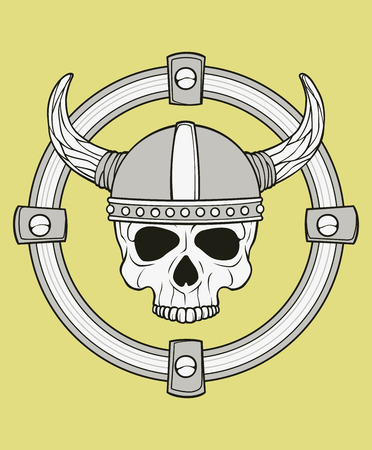 victim war: monochrome skull illustration, well organized, easy to rearrange and recolor Illustration