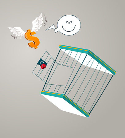 flying dollar get escape from a cage