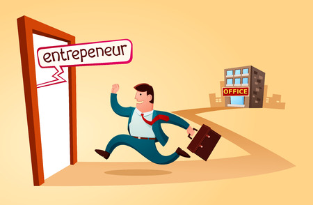 resign from the old job and start to build business