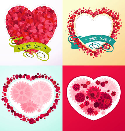 romantic and lovely ornament for various purpose and event such as valentine and wedding Illustration