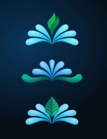 spring water: spring water icon template