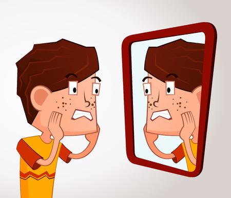 acne: boy with an acne problem