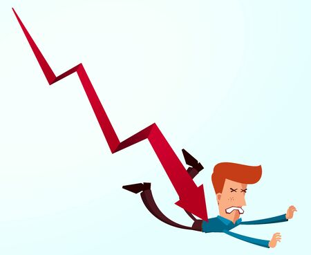 young businessman: young businessman get painful result