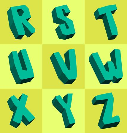 tittle: collection of rock style font Illustration