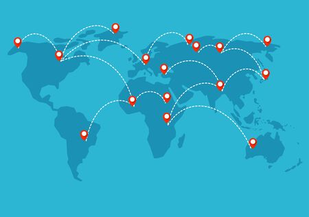 every part of the world is connected into single network