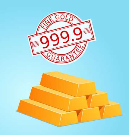 gold standard: stack of gold vector illustration for various use Illustration