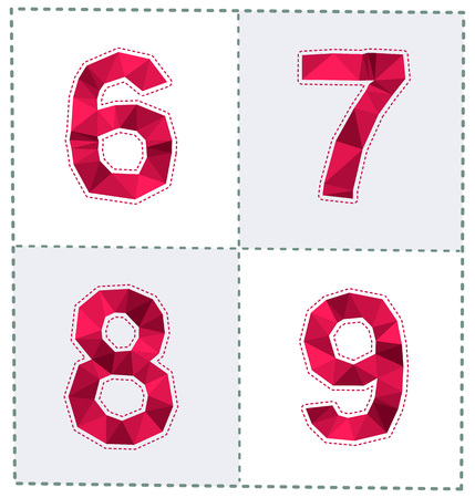tittle: colorful polygonal number for various use Illustration
