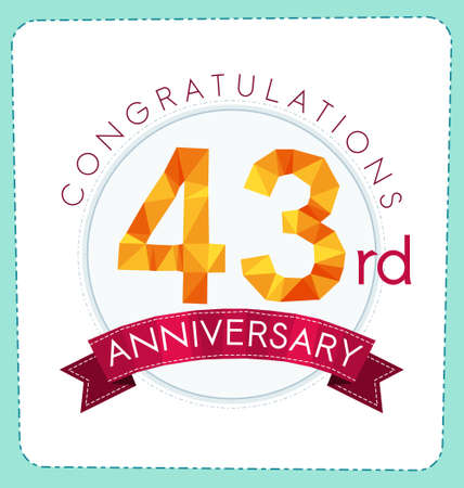 gold age: colorful polygonal number anniversary logo