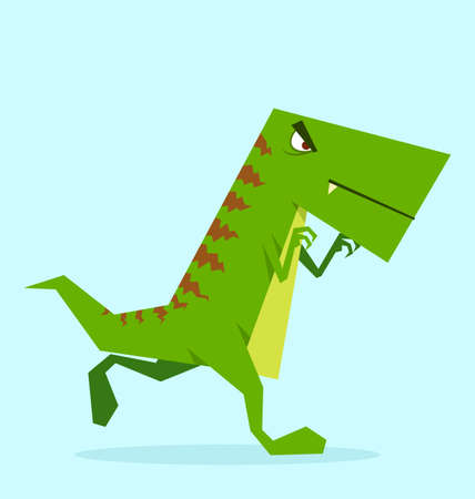 fearsome: green dino in action