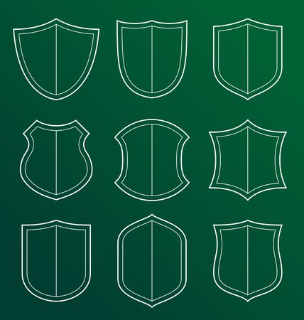 represent: collection of shield icon represent protection and safety