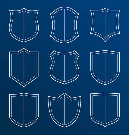 guard  guardian: collection of shield icon represent protection and safety
