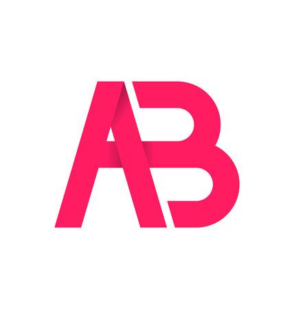 signature: AB alphabet composistion for logo or signature