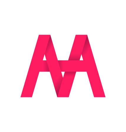 signature: AA alphabet composistion for logo or signature Illustration