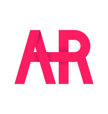 typography signature: AR alphabet composistion for logo or signature