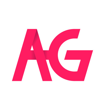 ag: AG alphabet composistion for logo or signature