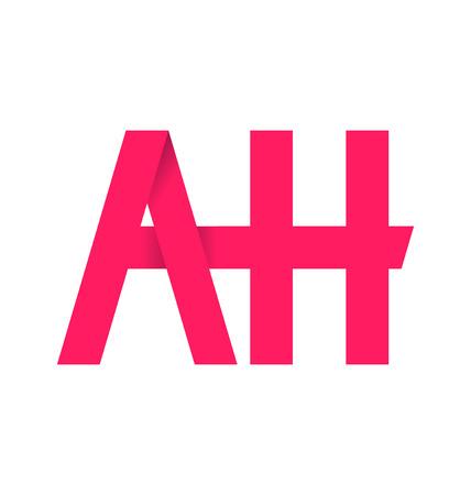 ah: AH alphabet composistion for logo or signature