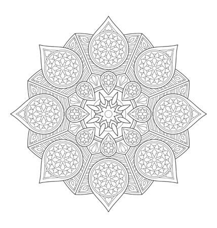 Ganso Con El Patrón Doodle Floral étnico. Dibujo Para Colorear ...