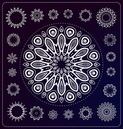 set of mandala illustration in vector format for various use
