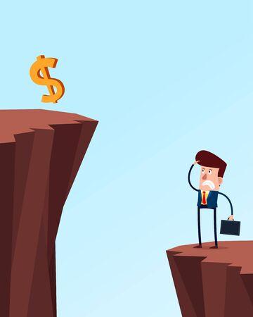 difficult situation: businessman facing serious problem