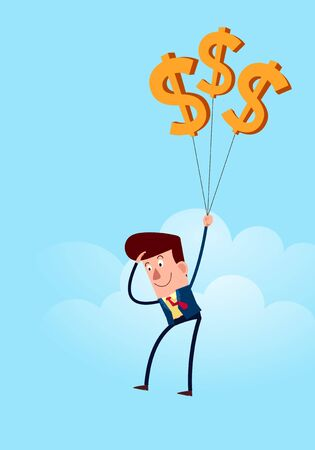 profiting: businessman using his resource to gain business success Illustration