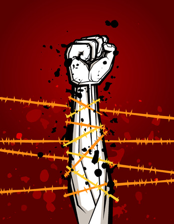 rebellion: clenched fist vector illustration for resistance and revolution symbol