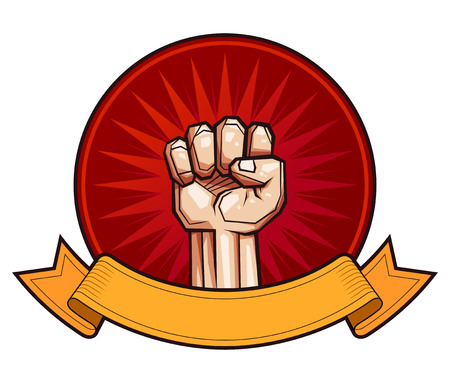 clenched fist vector illustration for resistance and revolution symbol