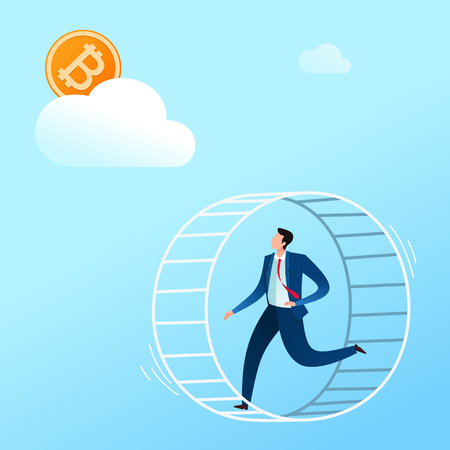 running in a cage dreaming for digital currency