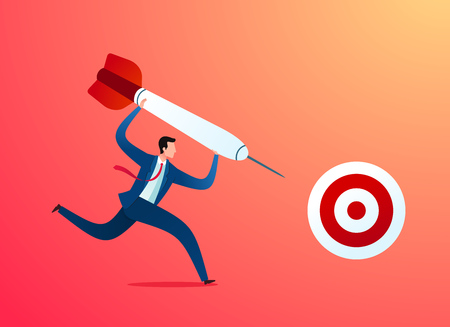 taking business action to achieve target Иллюстрация
