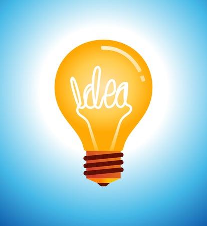 Lightbulb idea vector illustration 일러스트