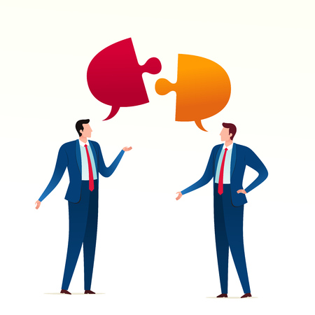 Arguing each other an a business meeting. Business conflict concept illustration. Ilustrace