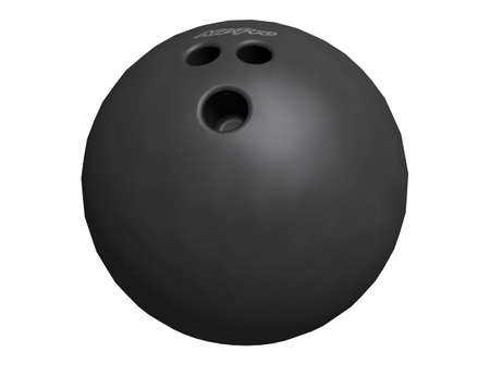 raytracing: 3D Illustration of a bowling-ball Stock Photo