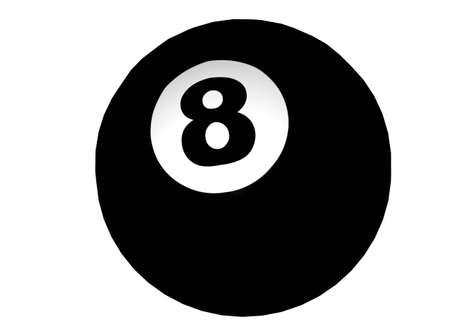 3D Illustration of an eight-ball illustration