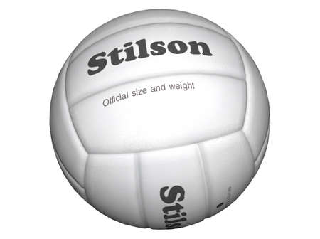 raytracing: 3D Illustration of a volleyball Stock Photo