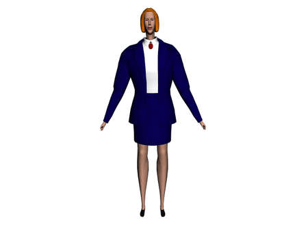 raytrace: 3D illustration of a businesswoman