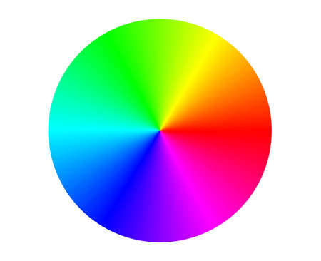 colour wheel: Illustration of a RGB color circle